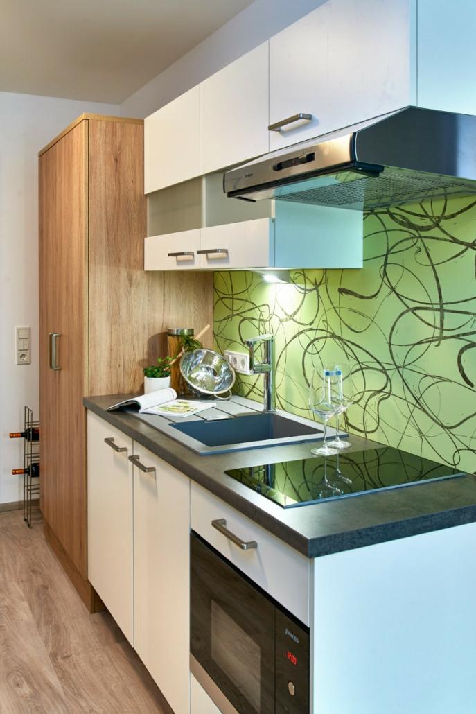 studentenappartements ingolstadt musterwohnung küche
