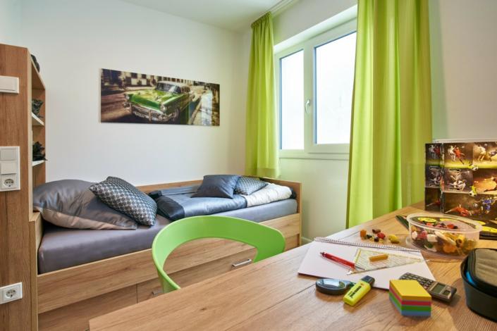 studentenappartements ingolstadt musterwohnung bett