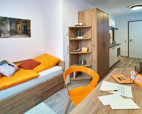 studentenappartements ingolstadt musterwohnung wohnen schlafen